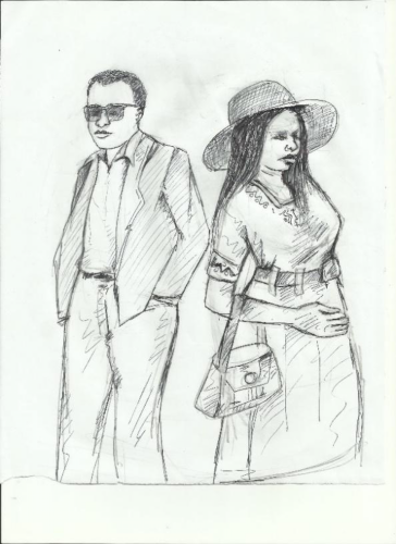 animated picture of a man and a woman